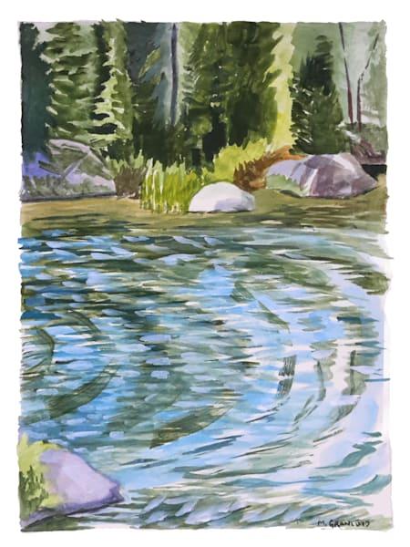 Gouache Landscape paintings by Mark Granlund