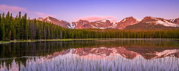 Panoramic Landscape Photo Bierstadt Lake Dawn's Early Light RMNP