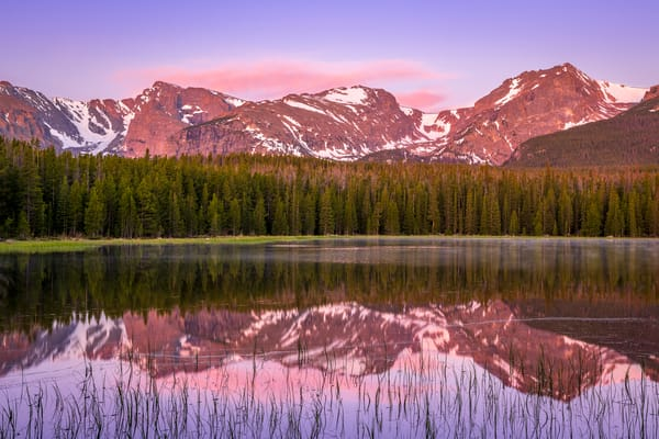 Photo of Bierstadt Lake illuminated by Dawn's Light Rocky Mountain National Park