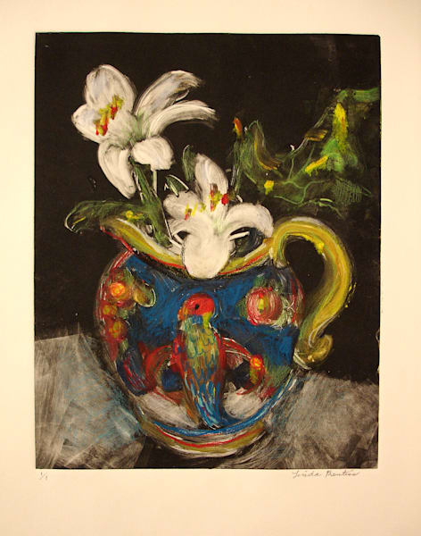 Parrot Pitcher With Flowers Art | East End Arts