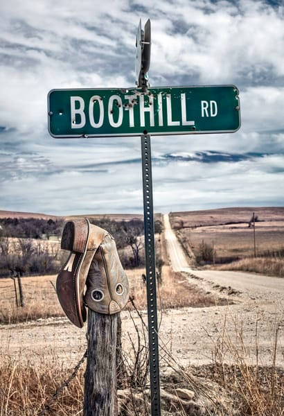 Americana color photograph: Boothill Rd, by fine art photographer, David Zlotky