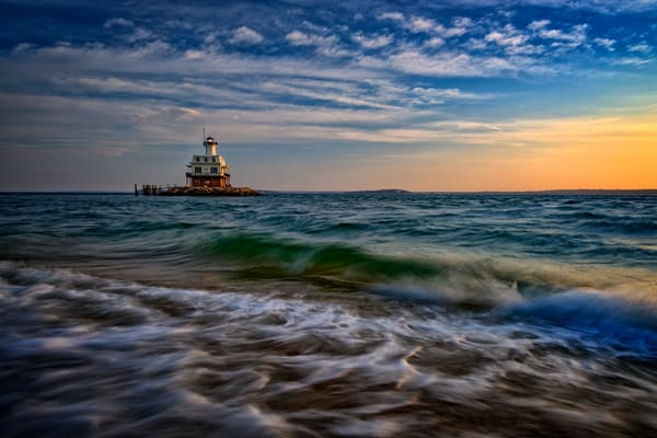 Long Beach Bar Lighthouse by Rick Berk