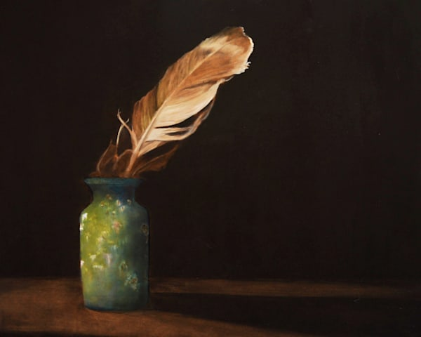 Feather and Vase