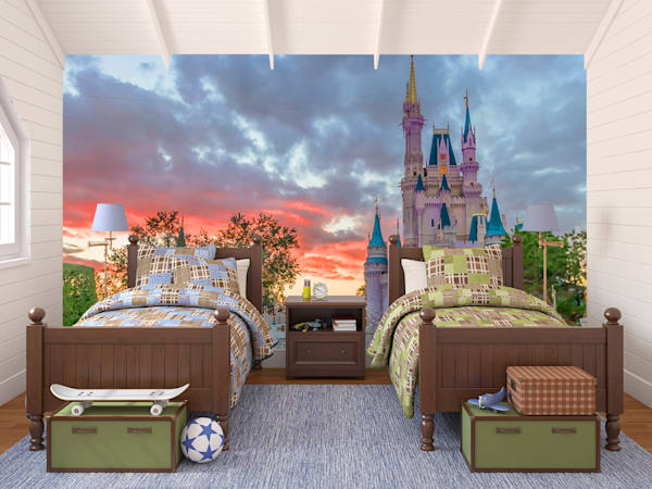Castle Dusk - Disney Castle Wall Murals | William Drew