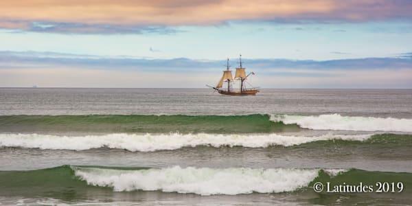 """Tall Ship Pastel"""