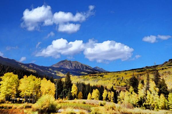 Mount Gunnison print of photograph of Mount Gunnison, West Elk Mountains, Colorado for sale as digital art by Maureen Wilks
