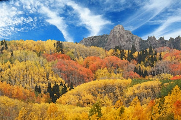 Aspen Fall in the Ruby Range print of photograph of Ruby Range, Colorado for sale as digital art by Maureen Wilks