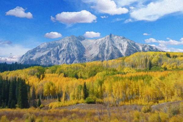 Marcellina Mountain print of photograph of Marcelina Mountain, Colorado for sale as digital art by Maureen Wilks