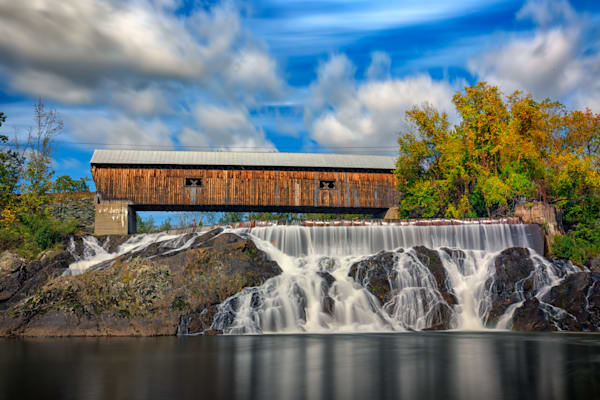 Spanning the Ottauquechee River by Rick Berk