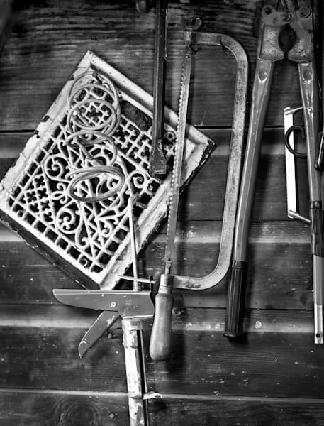 Americana photograph: Barn Tools-bw by fine art photographer, David Zlotky