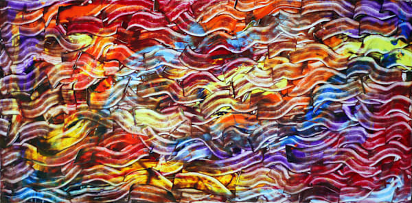 Psychedelic Bacon abstract PMS painting