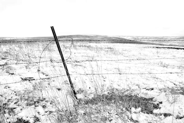 Americana fine art black and white photograph: Flint Hills Valentine - bw, by nationally recognized fine art photographer, David Zlotky.