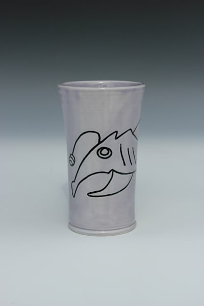 Shady Shark with Egg, Purple Tumbler