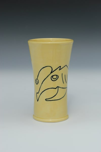 Shady Shark With Egg, Yellow Tumbler | Gerard Ferrari LLC