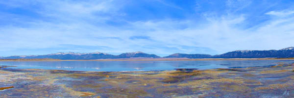 San Luis Lakes print of photograph of San Luis Lakes and Sangre de Cristo Mountains of southern Colorado for sale as digital art by Maureen Wilks