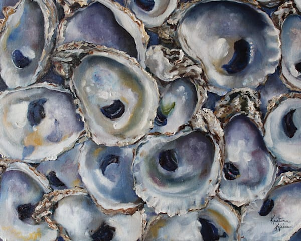Bay Oyster Shells by Coastal Artist Kristine Kainer
