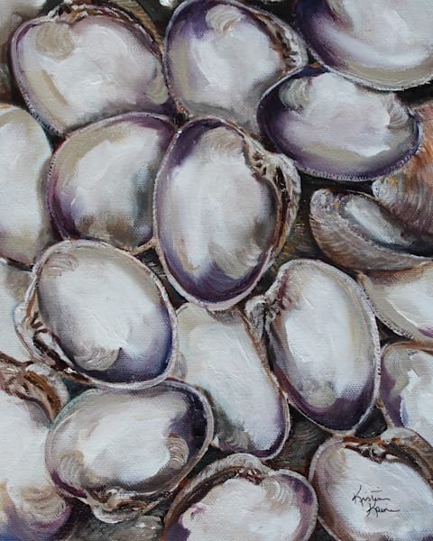 Clam Shells by Coastal Artist Kristine Kainer