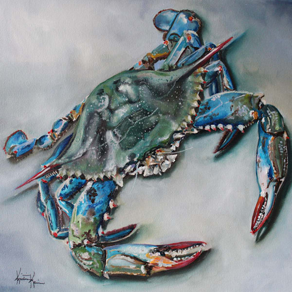 Blue Crab by Coastal Artist Kristine Kainer
