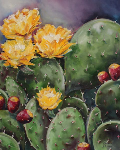 Prickly Pears by Texas Artist Kristine Kainer