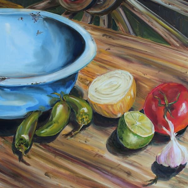 Chuckwagon Salsa by Food and Texas Artist Kristine Kainer