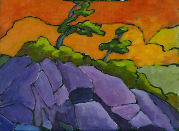 Two Trees, Purple Rocks Art | Keith Thirgood