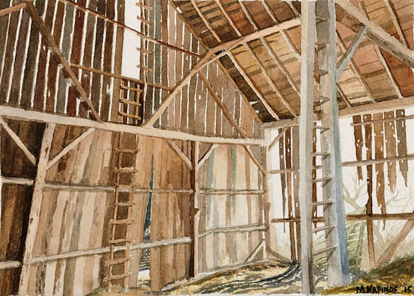 """Barn Ladders"" fine art print by Matt Kapinos."