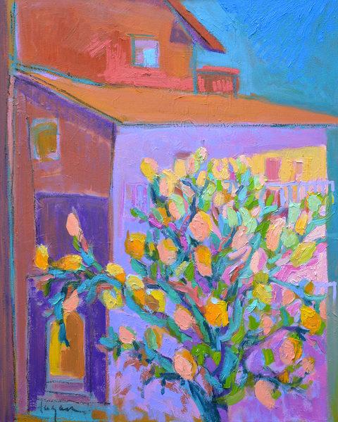 Limoncello Lemon Tree Print on Canvas by Dorothy Fagan