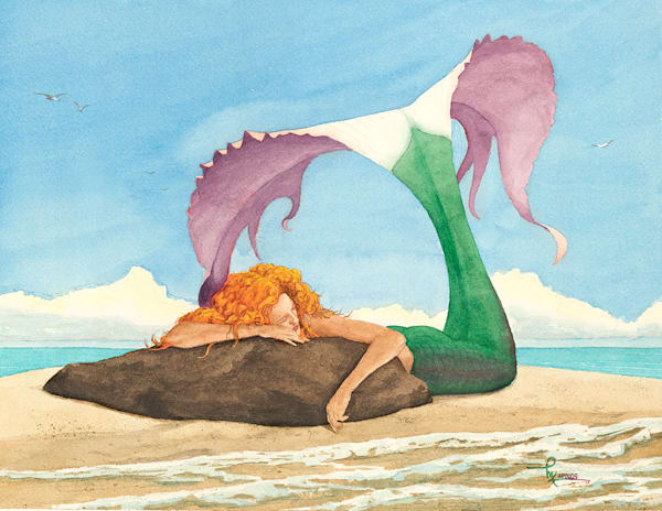 """Mermaid At Rest"" fine art print by Matt Kapinos."