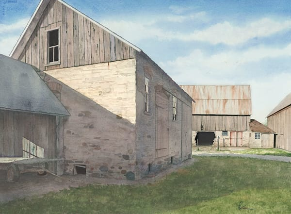 """The Grainery"" fine art print by Matt Kapinos."