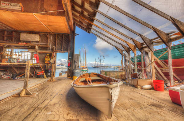 Gannon & Benjamin Boatyard Art | Michael Blanchard Inspirational Photography - Crossroads Gallery