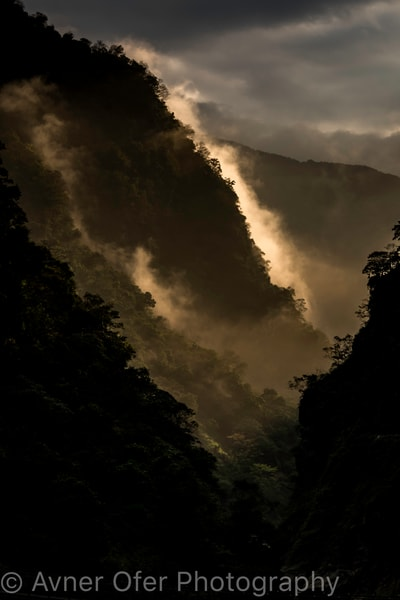 Golden mist, Toroko Gorge, Taiwan