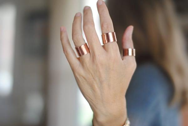 Copper Cuff Ring by Kelly Berkey Jewelry