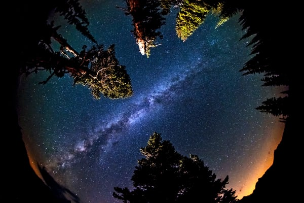 Milky way through fisheye