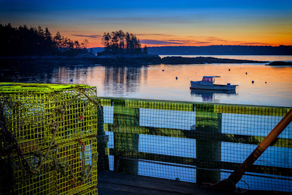 Dawn in Five Islands Harbor by Rick Berk