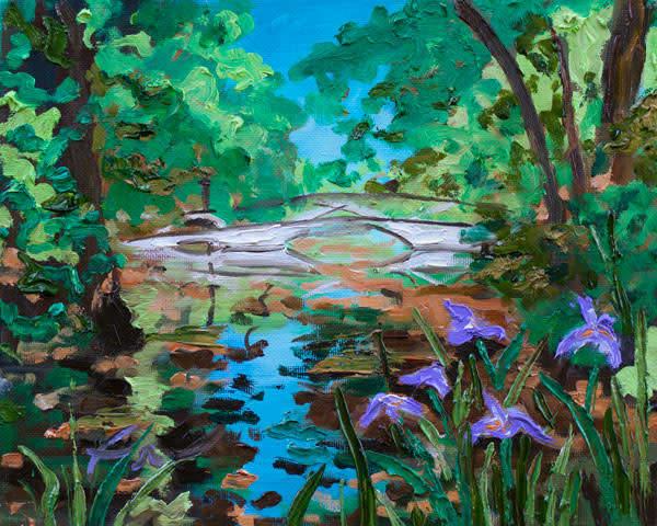 Magnolia Plantation White Bridge Painting | Fer Caggiano Art