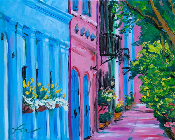 Charleston Iconic Rainbow Row