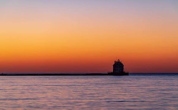 Lorain Harbor Lighthouse at Twilight