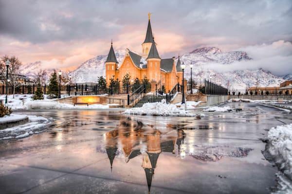 Provo City Center Temple - Mountain Sunset
