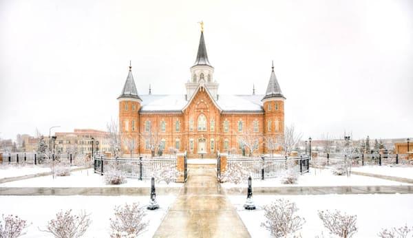 Provo City Center Temple - Snowstorm