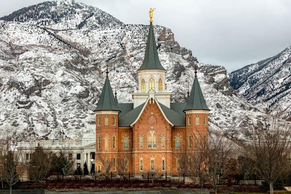 Provo City Center Temple - Snowy Mountain