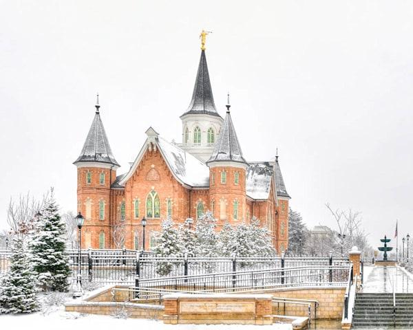 Provo City Center Temple - White Snowstorm