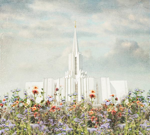 Jordan River Temple - Floral Pastel