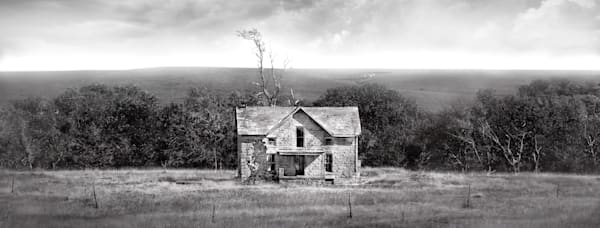 Panoramas/Wide View Collection - bw | Long Gone, Good Bones - bw. A fine art wide/view photograph by David Zlotky.