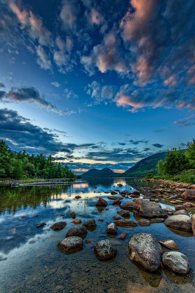 Twilight at Jordan Pond by Rick Berk