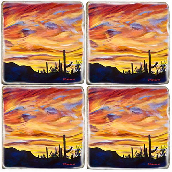 Painted Sky Coaster Set by Diana Madaras