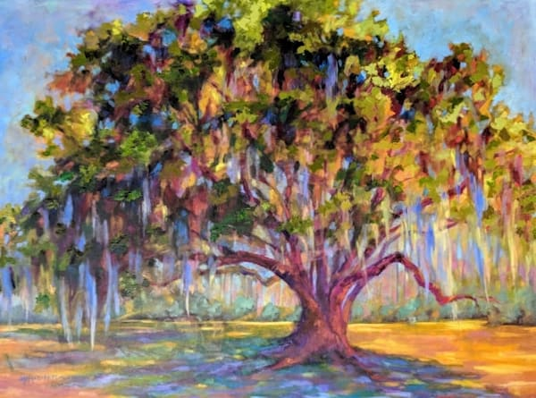 Sullivan's Oak, by Southern artist, Laura McRae Hitchcock,  is a Limited Edition fine art print of a beautiful oak tree.