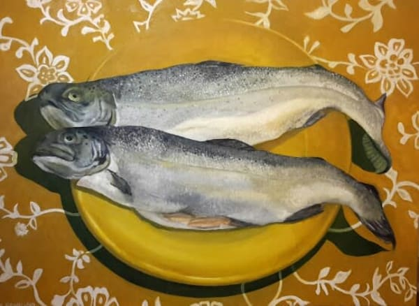 Rainbow Trout painting by Mark Granlund