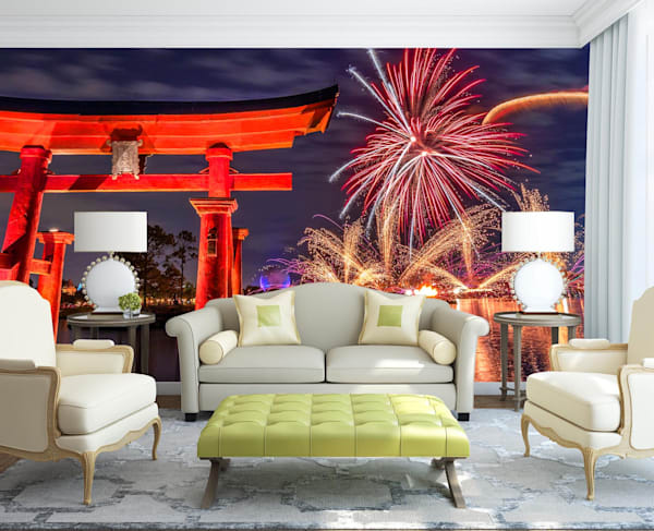 Torii Gates Illuminations - Japan Wall Murals | William Drew Photography