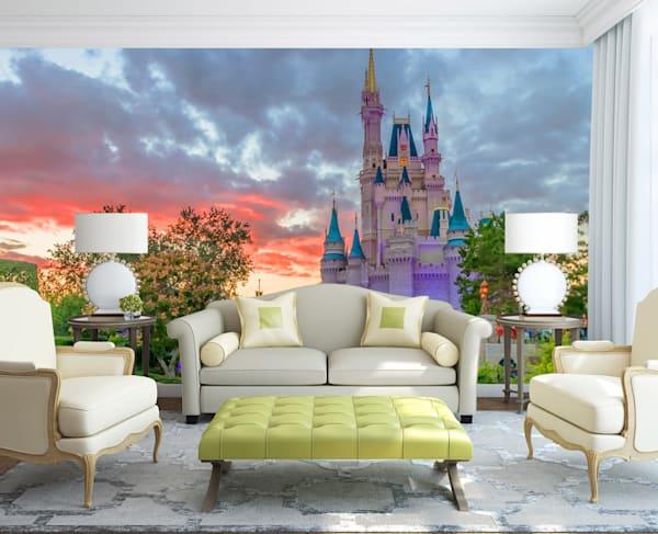 Alicia Murphy Cinderella's Castle Sunset Mural