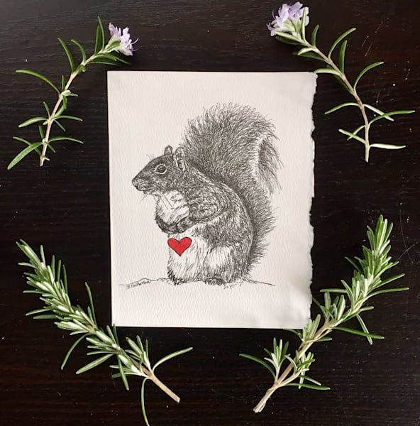 Squirrel Love Notecards by Becky MacPherson